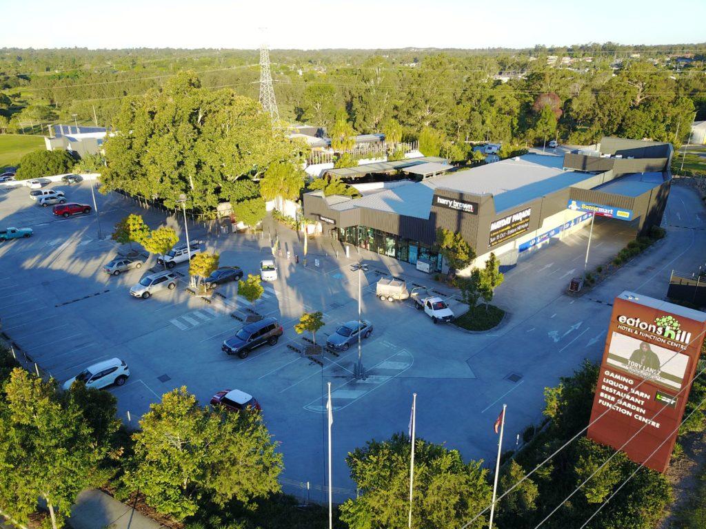 Aerial photograph of Eatons Hill Hotel aka Australia's biggest pub