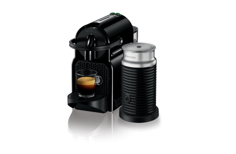 a Nespresso, Inissia & Aeroccino3 Coffee Machine with Milk Frother