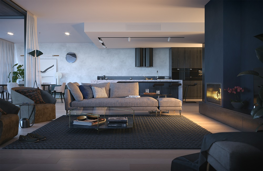 avalon penthouse living room lifestyle