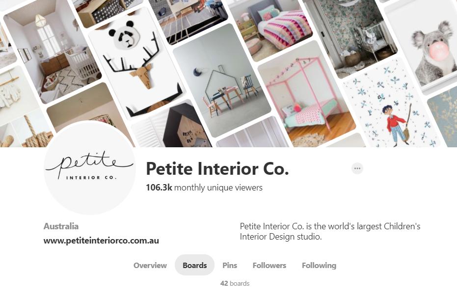Petite Interior Co. Pinterest