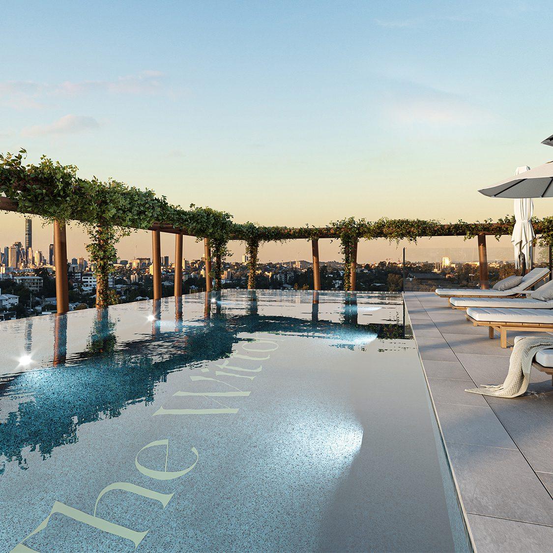 A luxury rooftop retreat